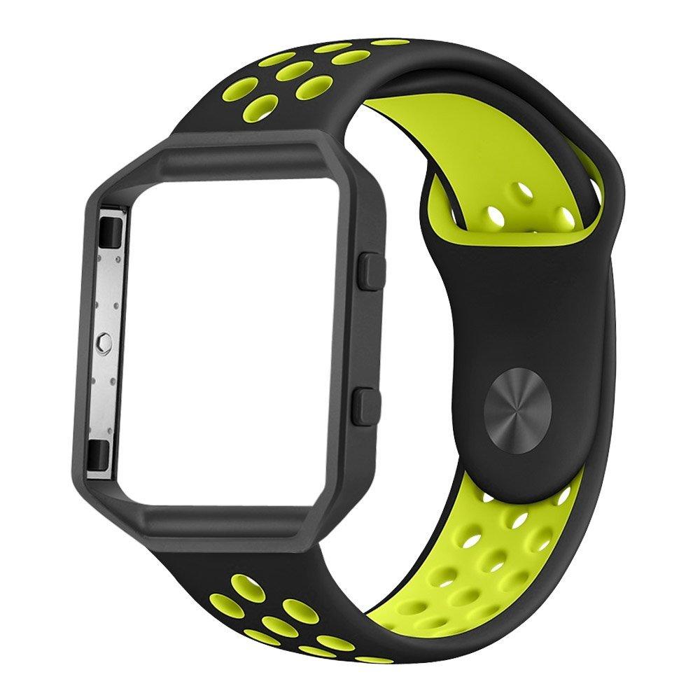 Bracelets de montre de rechange EIMO pour bracelet Fitbit Blaze Sport Silicone souple pour Fitbit Blaze montre intelligente ceinture Fitness avec cadreBracelets de montre de rechange EIMO pour bracelet Fitbit Blaze Sport Silicone souple pour Fitbit Blaze montre intelligente ceinture Fitness avec cadre