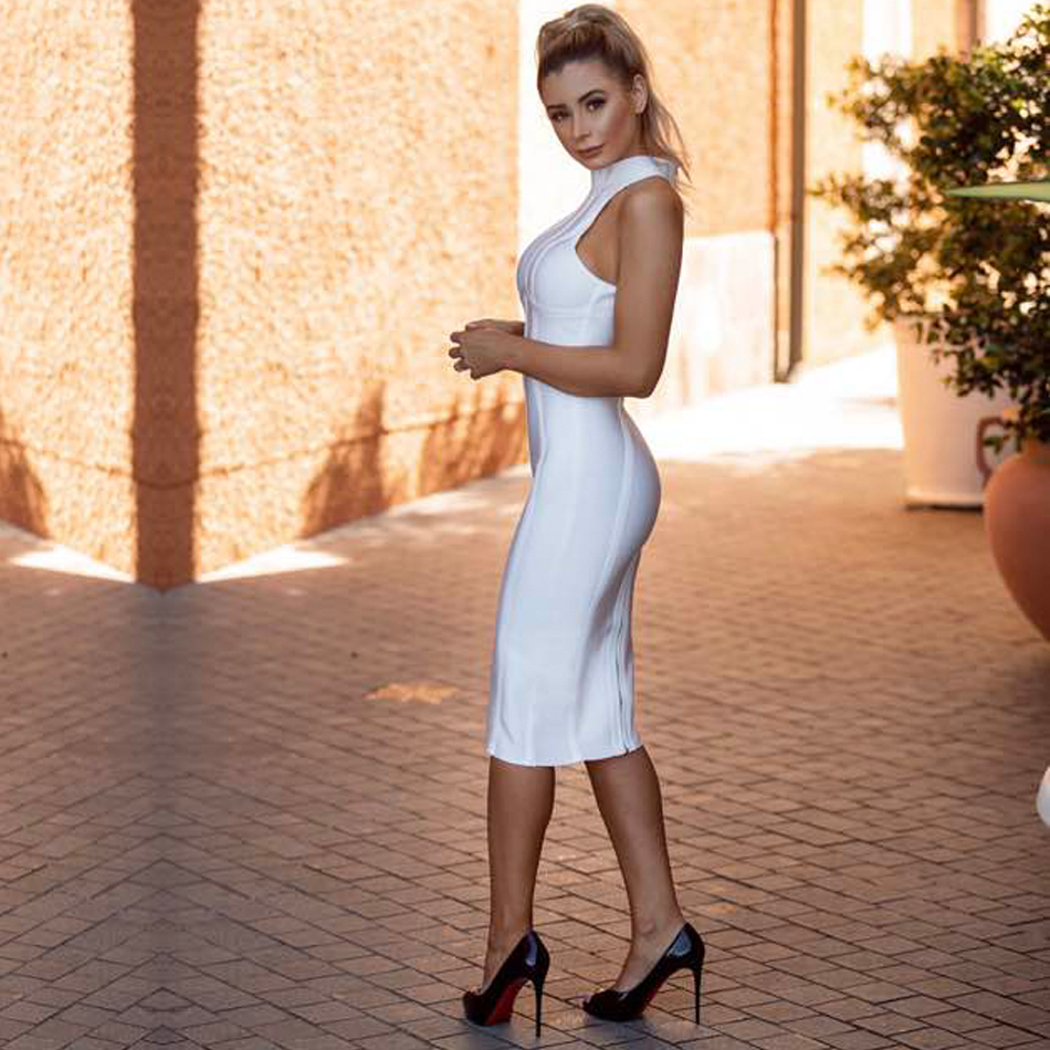 Responsible 2019 New Arrival Graceful Lace Sexy Deep V Neck Sleeveless Women Celebrity Party Club Fashion Boot Cut Bandage Jumpsuit Jumpsuits