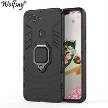 hot deal buy wolfsay xiaomi mi 8 lite case, xiaomi mi8 lite car holder armor cases hard pc & soft silicone cover for xiaomi mi 8 lite 6.26