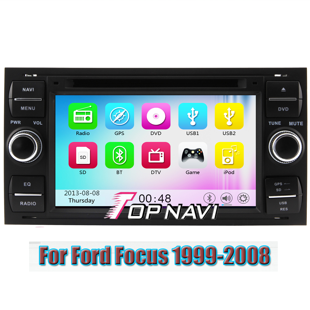 Wince 6 0 car dvd player gps navigation system radio stereo for ford focus 1999 2000 2001 2002 2003 2004 2005 2006 2007 2008