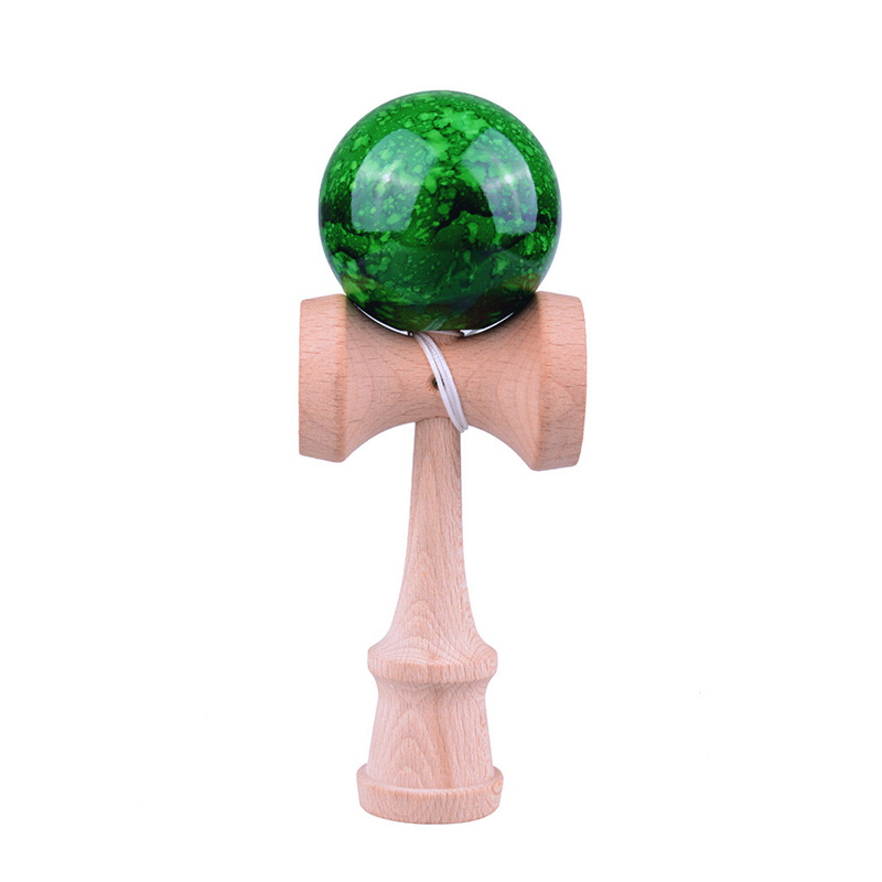 6CM Marble Color Wooden Kendama Balls Skillful Juggling Balls Professional Toys Outdoor Games For Kids Children Adults