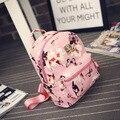 Fashion Women Ladies Cute Travel Casual School Faux PU leather Backpack Flower Girls Leisure Backpacks Cheap Daypack Mochila Bag