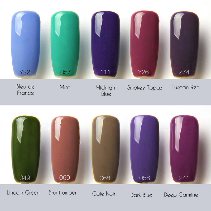 FOCALLURE Nail Gel Polish Soak Off UV Colorful Nail Colors Art Gel ...