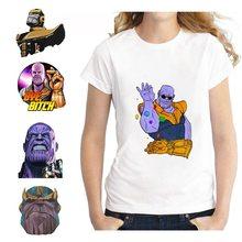 Thanos Boss Marvel Comic Summer Plus Size Loose O-NECK Modal Short Sleeve Womens Clothing Fashion Casual Anime T Shirt A193291