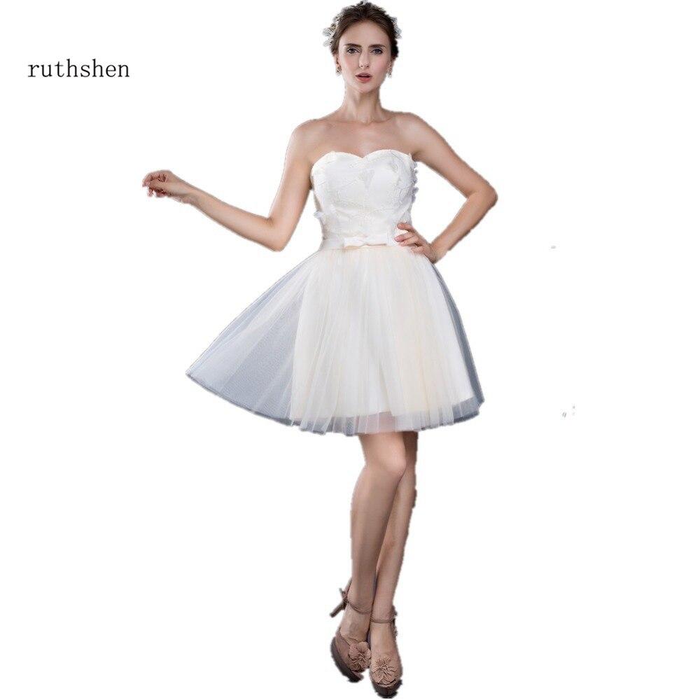 Ruthshen Sexy Sotto I 50 A Buon Mercato Spiaggia Abiti Da Sposa 2018  Sweetheart Fiori di fcfe097d519