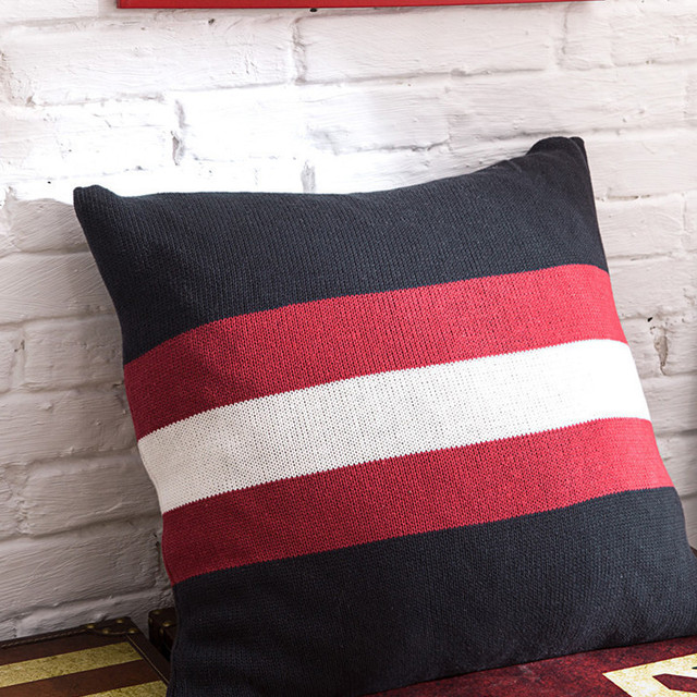 Full Cotton England Knitting Back Cushion Cover Embrace Pillow Case Photography Prop Soft Embling Decorate Decorative Pillows