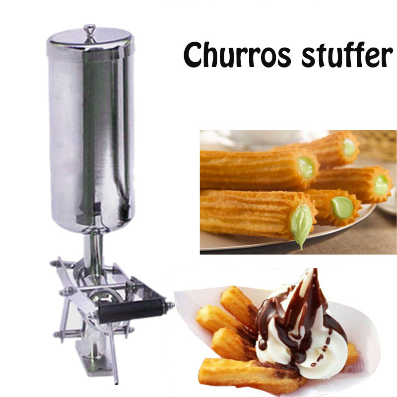 Churro Filler Machine Deluxe Stainless Steel Churro Filling Machine Capacity 5 Liters Chocolate Jam And Cream Filler cream cream deluxe 27550626