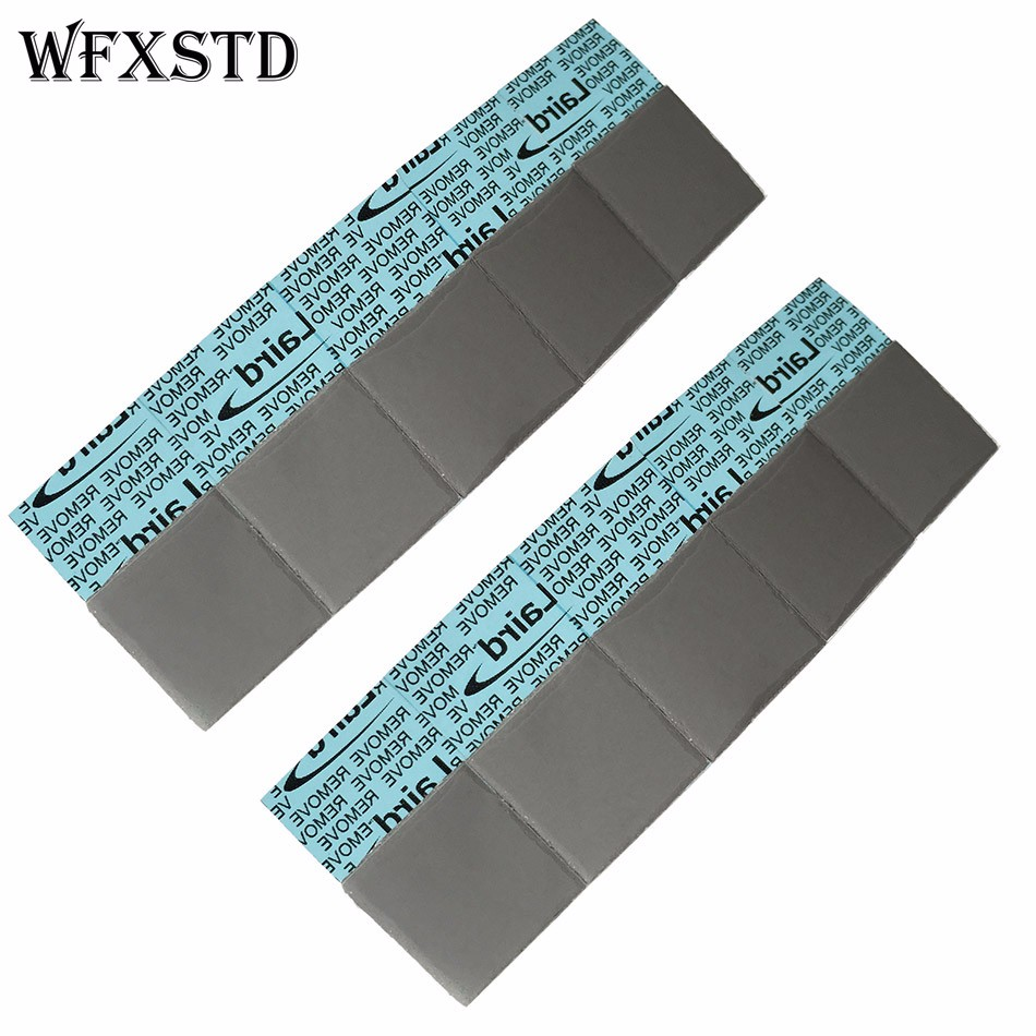100Pcs 1.25mm Silicon Thermal Pad For LAIRD notebook graphics memory Beiqiao thermal silica thermal pad T-FLEX750 thermal pad 2901109500 thermal