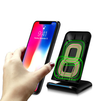 Fast Wireless Charger 2 Coil Wireless Charging Stand For IPhone 8 IPhone 8 Plus IPhone X