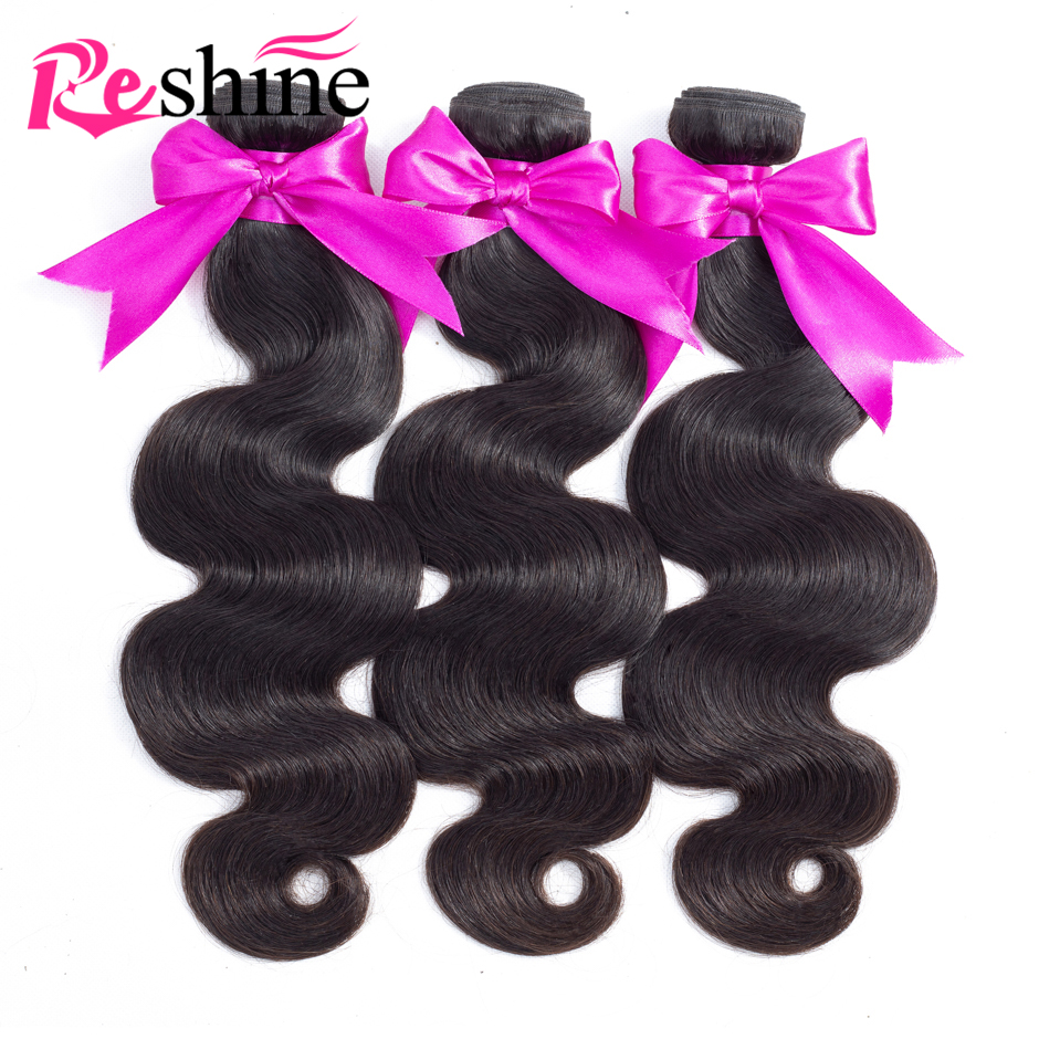 Reshine Peruvian Body Wave Hair 4 Bundles Deal 3 5oz pc 10 26 Inch Natural Color