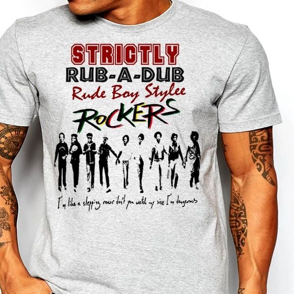 Reggae T-Shirt Haile Selassie I Jah Rastafari Vintage Dancehall Rub-a-Dub Cotton Personalized T Shirt  T Shirt