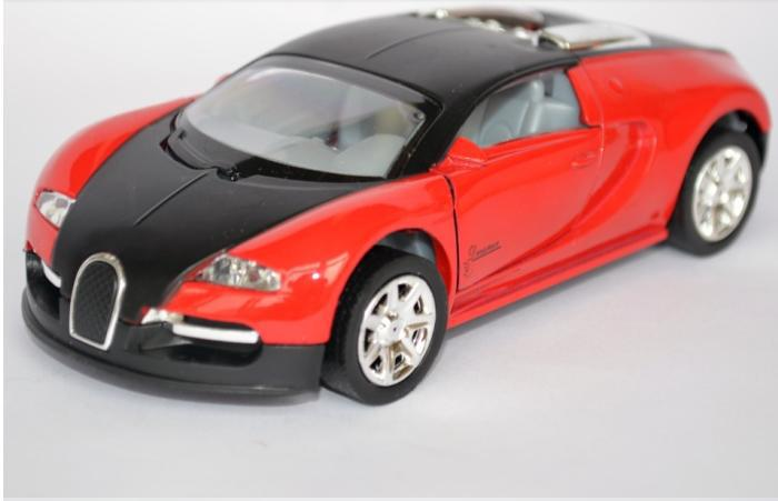 fashion children's kids toys car classic vintage car model alloy wholesale free shipping  Bugatti Veyron acousto-optic Warrior