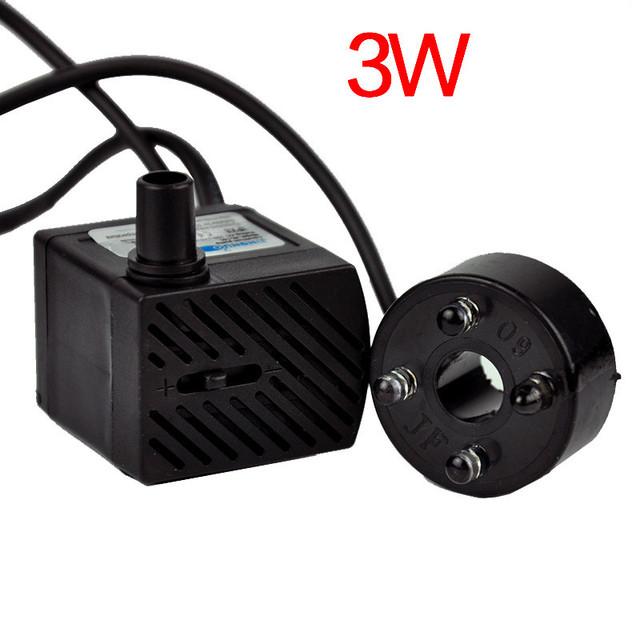AC 220V 3W/5W Submersible Water Pump 4 LED Micro Water Pump For Aquarium Fountain EU Plug