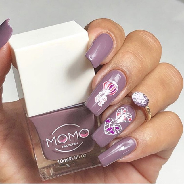 MOMO 10ml Nail Polish Pure Color Normal Lacquer Long Lasting Super ...
