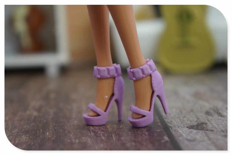 Recién llegado Original 1 par de zapatos de muñeca 1/6 botas de moda zapatos planos sandalias para 1/6 de muñeca Barbie