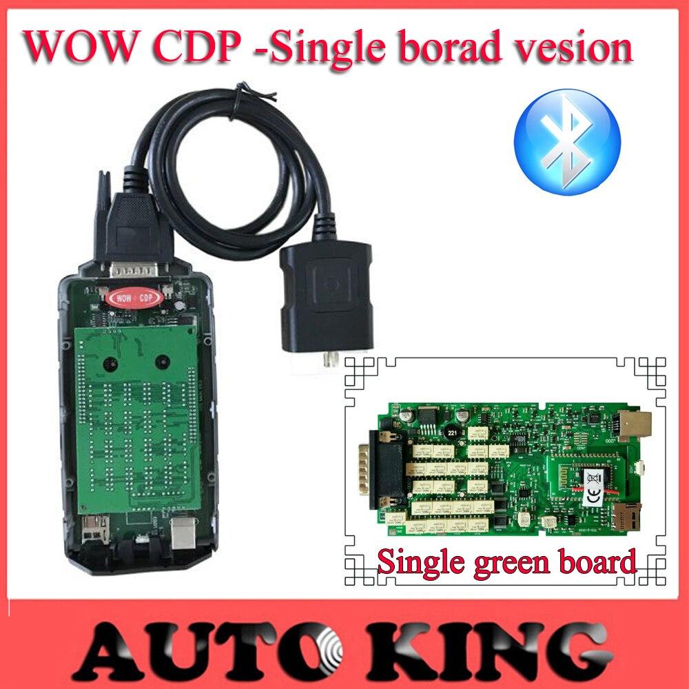 Prix pour Dernière 5.008R2 Keygen Unique Vert Carte wow CDP Scanner Bluetooth + NEC Relais + Multi-langue pour Voitures Camions Outil de diagnostic
