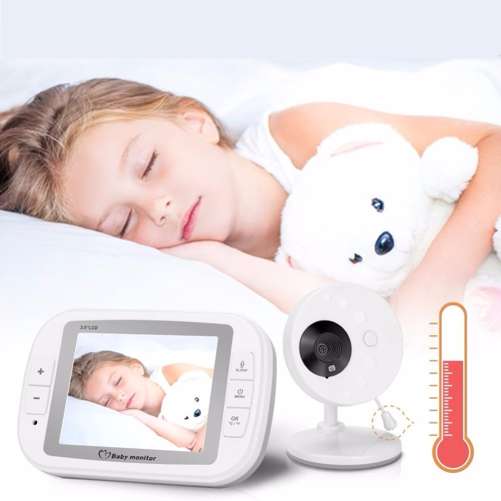 babykam baba eletronica detector fetal security camera 3.5 inch IR Night Vision Temperature Sensor Lullabies Intercom baby alarm