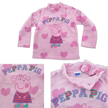 9b8887f97 Peppa Pig Winter Clothing Baby Girls Embroidery Long Sleeve T Shirts Cotton Tops  clothes kids wear
