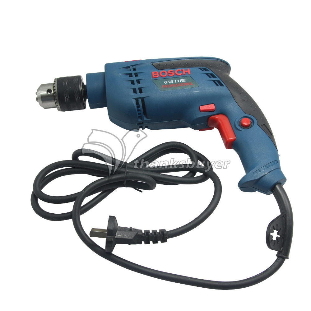 Bosch Power Tool BOSCH GSB13RE Impact Percussion Drill Electric Hand Drill Small Hammer дрель ударная bosch gsb 13 re professional [0601217100]