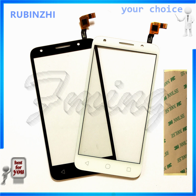 RUBINZHI Free Tape Moible Phone For <font><b>Alcatel</b></font> One Touch U5 5044D 5044I <font><b>5044T</b></font> 5044Y OT5044 Touch Screen Sensor Digitizer Glass image