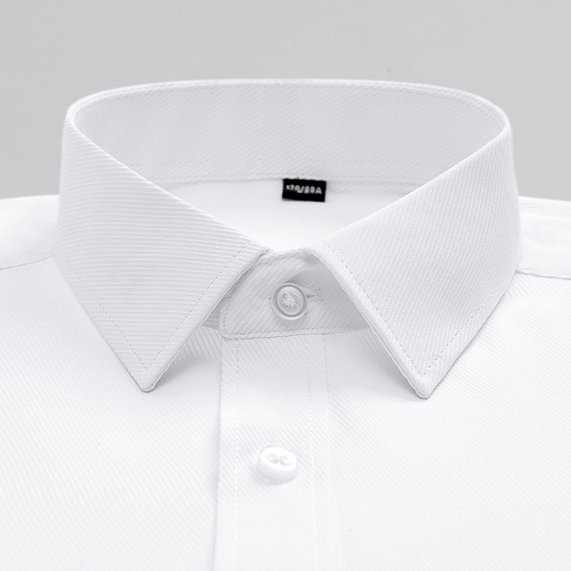 Mens Short Sleeve Solid Basic Dress Shirt with Chest Pocket Regular-fit Work Office Easy Care Formal Social Tops White Shirts