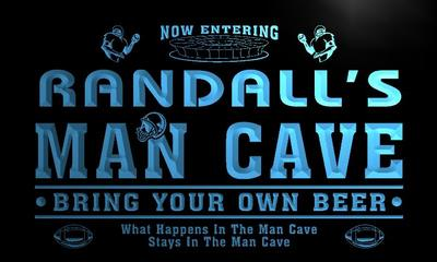 x0138-tm Randalls Man Cave Football Bar Custom Personalized Name Neon Sign Wholesale Dropshipping On/Off Switch 7 Colors DHL