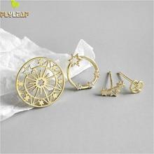 Flyleaf 925 Sterling Silver Stud Earrings For Women Star Zircon Neckband High Qu