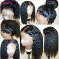 Glueless Pelucas Llenas Del Cordón de la Onda Profunda Brasileña Llena Del Cordón Del Pelo Humano pelucas Para Las Mujeres Negras Virgen Frente Del Cordón Del Pelo Humano Peluca de Pelo