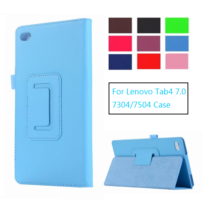 Folio cover case for Lenovo Tab4 Tab 4 7 inch TB-7504 TB-7504F For Lenovo Tab4 Essential TB-7304F Smart Cover Shell pu case cover for lenovo tab 7 essential tb 7304 tb 7304f tb 7304ntb 7304x 7 2017 release flip case for lenovo tab4 essential