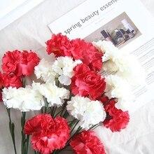 10 pcs Silk Carnation Stamen Wedding Artificial Flowers Flower Fake