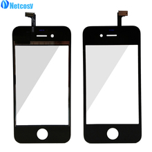 Netcosy Para iphone 4/4S sensor de pantalla táctil de la pantalla táctil digitalizador lente de cristal Reparación de Parte de Reemplazo para el iphone 4 4S panel táctil