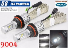 1 Set 9004 HB1 50W 5000LM 5S LED Headlight LUMILED LUXEON ZES 24LED SMD Chips Fanless 6500K Hi/Low Beam Driving Fog Lamps Bulbs