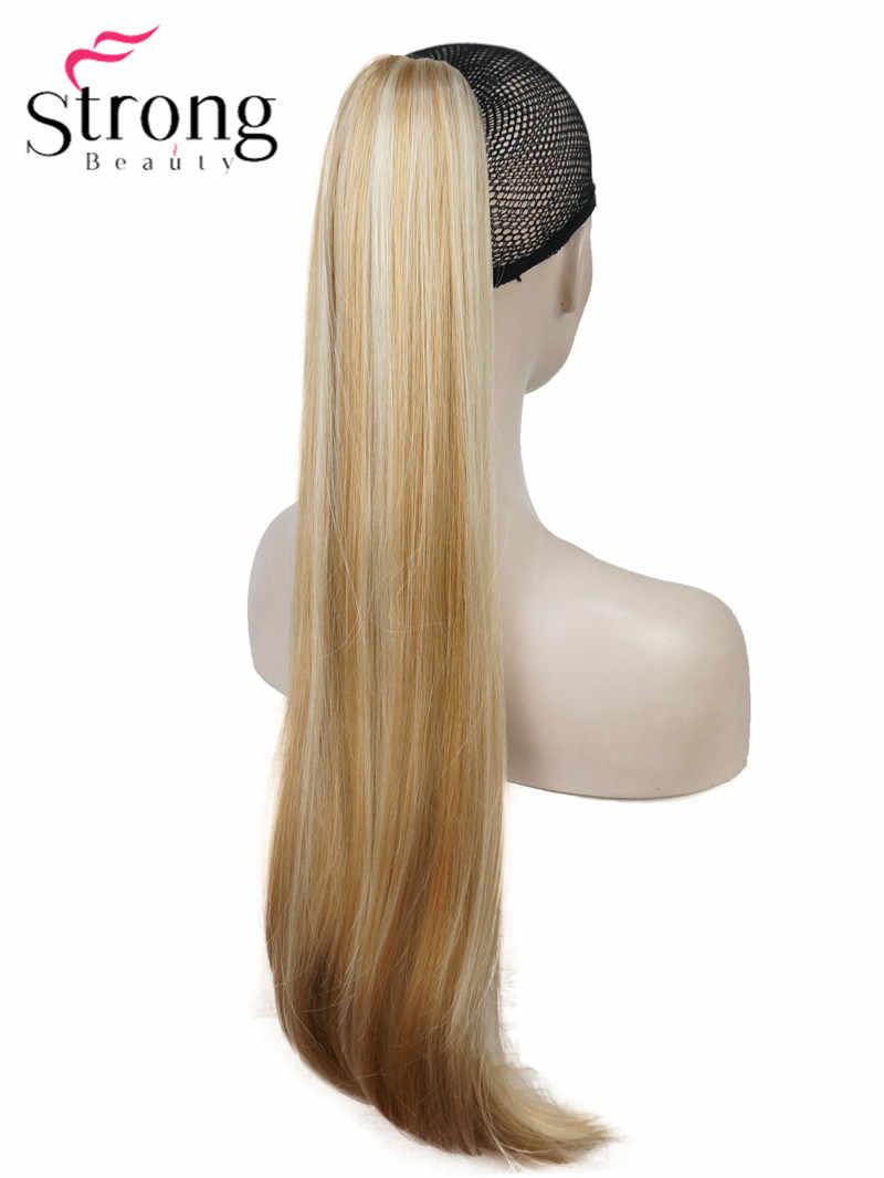 Очень красивые, Длинные прямые Коготь клип конский хвост парик африканские кудри 26 дюймов синтетический тепло сопротивляться выбор цвета