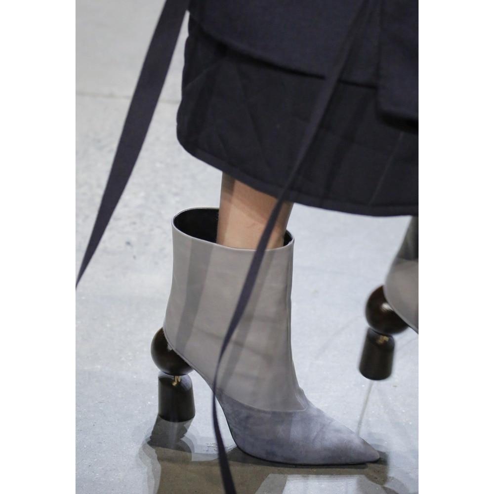 Pointu Talons Cheville Dipsloot Slip on Dernière Haute Bottes Style Piste Designer La Bout or Étrange pourpre Robe 2019 gris Femmes blanc Marque Femme Noir f6qfzv