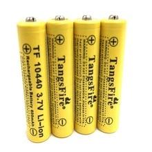 4 pieces  best priceTangsFire 3.7V 10440 Li-Ion battery 600mAh AAA rechargeable battery стоимость