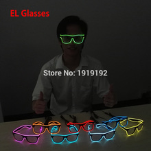 c04ee167e940 Flashing EL glasses El Wire Fashion Neon LED Light Up Shutter Shaped Glow Glasses  Rave Costume Party DJ Bright SunGlasses