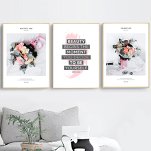 Flower Motivational Quotes Wall Art Canvas Painting Posters And Prints Nordic Poster Pop Art Wall Pictures For Living Room Decor moon sun quotes nordic poster wall art canvas painting posters and prints canvas art print wall pictures for living room decor