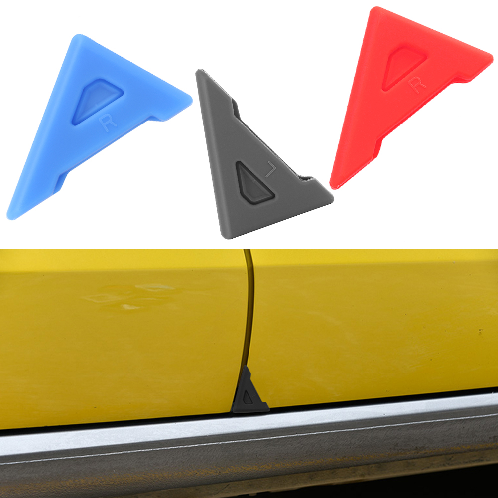 2Pcs Universal Silicone Anti-Scratch Car Door Corner Cover Bumper Crash Scratch Protector Car-styling Crash Protection