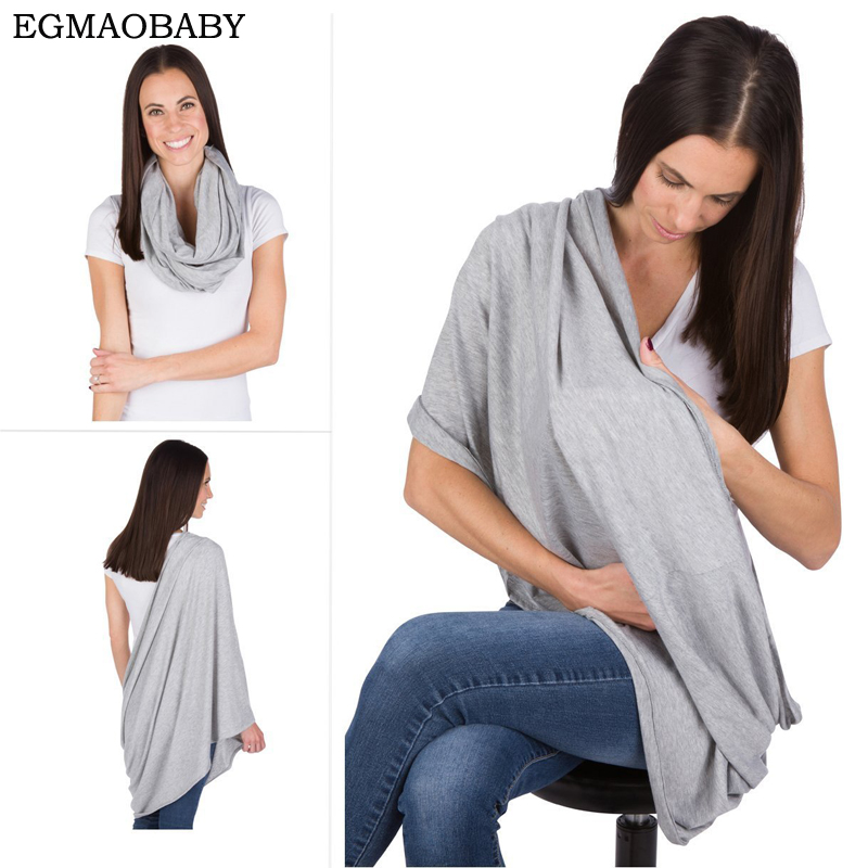 EGMAOBABY Nursing Scarf For Breastfeeding By Consider It Maid - 100% Cotton , Soft, Lightweight & Breathable Material stylish solid color lightweight pleated scarf for women