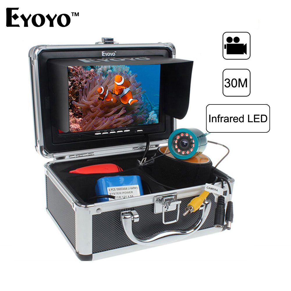 Eyoyo Original 30M 1000TVL Underwater Fishing Camera Video Recording DVR Fish Finder 7