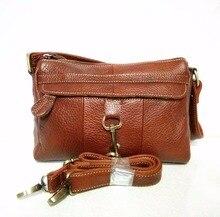 2016 Classic Vintage Women's Cowhide Real Genuine Leather Handbag Female Casual Small Black Messenger Shoulder Bag