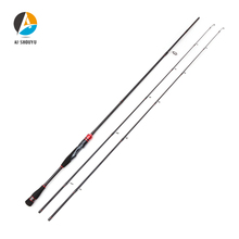 AI-SHOUYU 2.1m 2.4m All-around Spinning Fishing Rod with 2 Tips M/ML 24T Carbon Tougher Fast Action Baitcasting 8-16lb