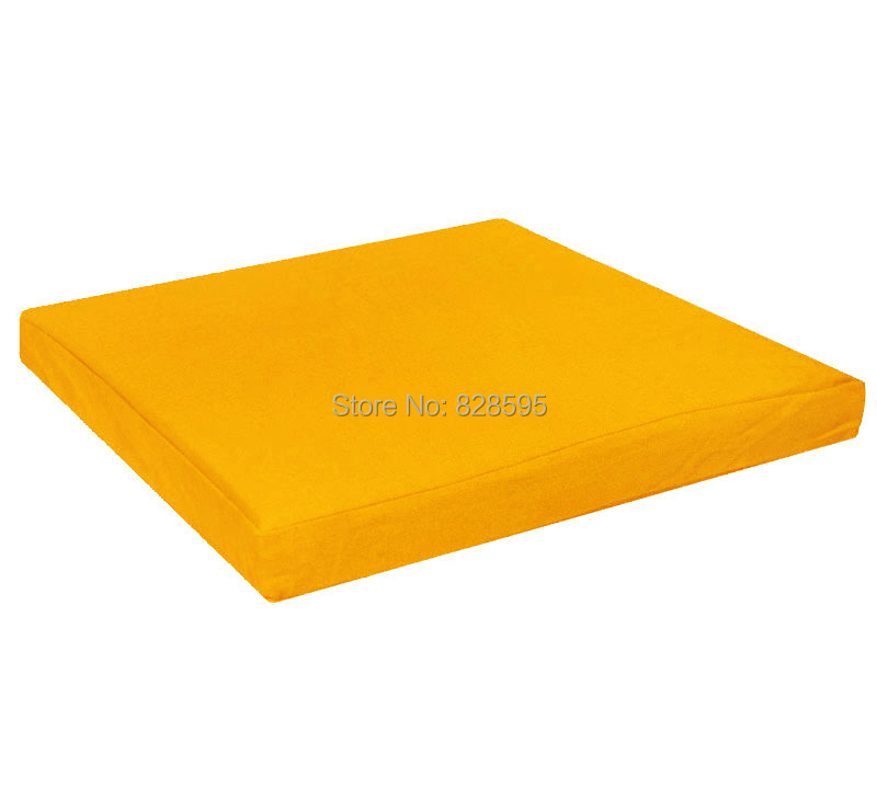 Cushioned Yellow Leather Sofa 3d: Aa136t Yellow 100% Cotton Canvas Square 3D Box Sofa Seat