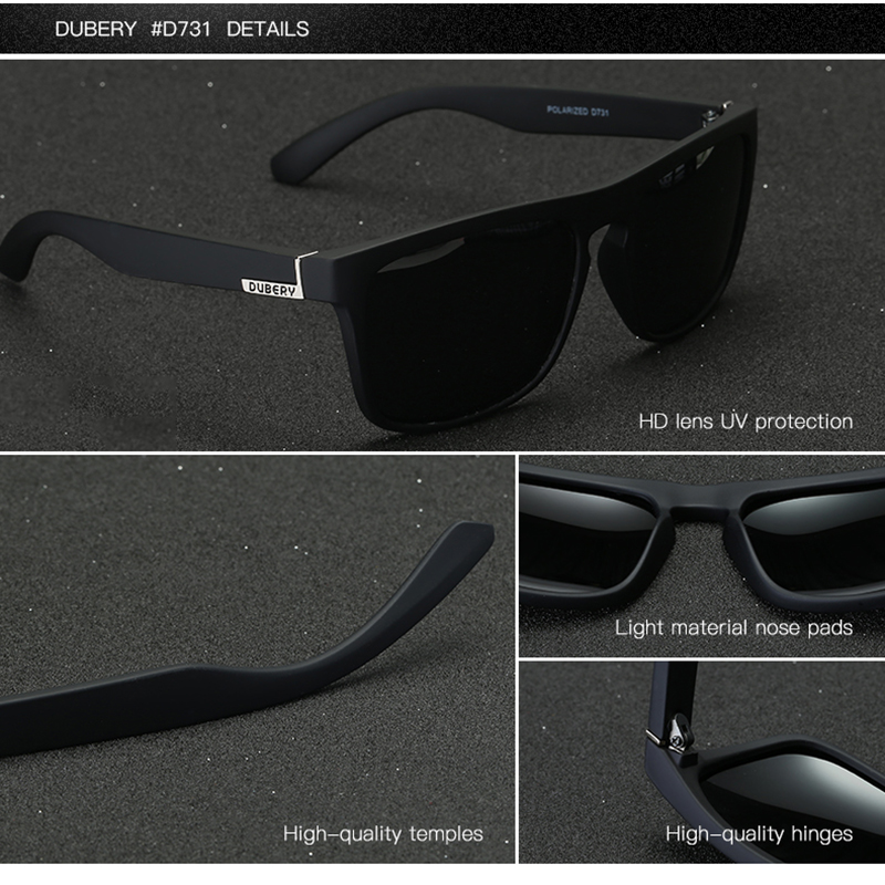 DUBERY Polarized Sunglasses Aviation Driving Shades Male Sun Glasses - Accesorios para la ropa - foto 4