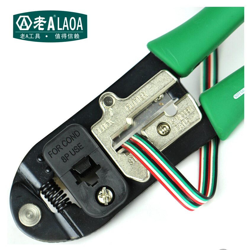 LAOA 8P Network Pliers High Quality Carbon steel Multifunction Network wiring clamp Network head clamper  цены