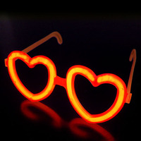 100pcs Luminous Liquid Party Glow Sticks Light Stick+50 sets Heart Shaped Glasses Stands Wedding Birthday Party Decors Favors