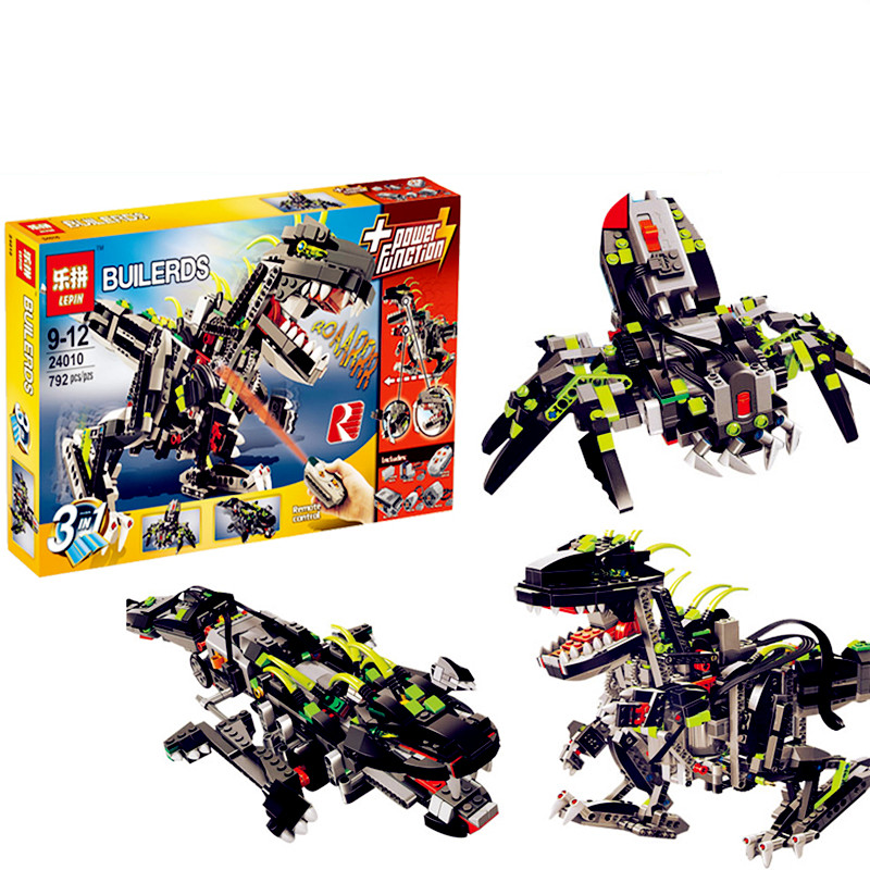 IN STOCK Lepin 24010 792Pcs Builerds Series The three-in-one remote control vocal dinosaur set 4958 Building blocks bricks toys love for three oranges vocal score