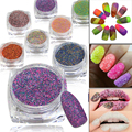 1g Nail Art Sugar Glitter Dust Powder 3D Pigments Sequins Polish Gel Girl Color Dazzling Nail DIY Pearl Tips Decor #522-542
