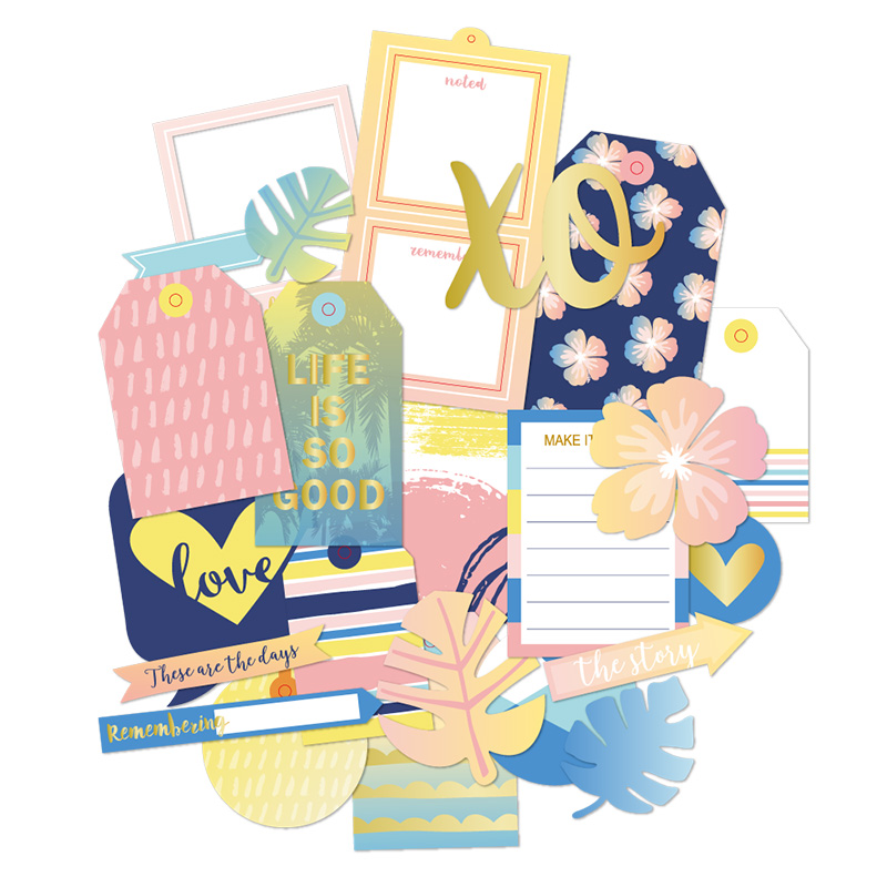 Lovedoki Mid Summer Colorful  Cardstock Notebook Diary Decorative Card Diy Accessories Scrapbook Supplies Creative Stationery
