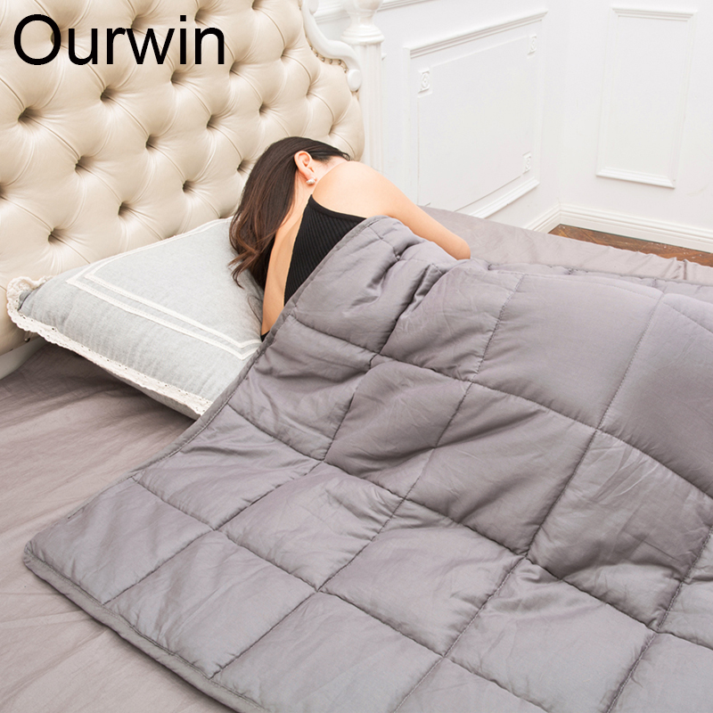 Ourwin 7KG Weighted Blanket 100% Cotton Decompression Quilt Weighted Cover Relieving Catigue and Improving Sleep Gravity Blanket